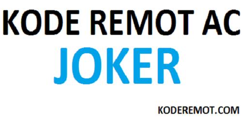 kode remot ac joker